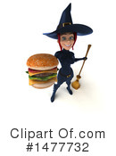 Blue Witch Clipart #1477732 by Julos