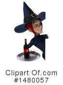 Blue Witch Clipart #1480057 by Julos
