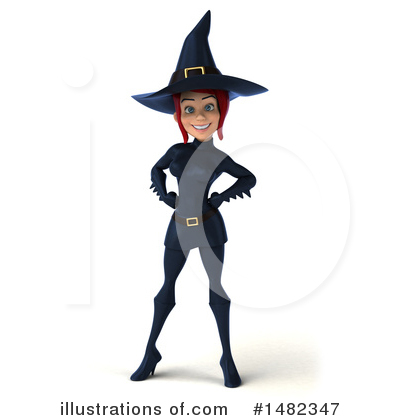 Royalty-Free (RF) Blue Witch Clipart Illustration by Julos - Stock Sample #1482347