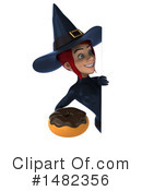 Blue Witch Clipart #1482356 by Julos