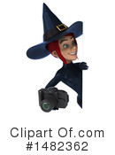 Blue Witch Clipart #1482362 by Julos