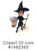 Blue Witch Clipart #1482363 by Julos