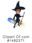 Blue Witch Clipart #1482371 by Julos