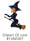 Blue Witch Clipart #1482387 by Julos