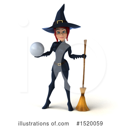 Blue Witch Clipart #1520059 by Julos