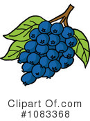 Royalty-Free (RF) Blueberries Clipart Illustration #1083368
