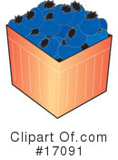Royalty-Free (RF) Blueberries Clipart Illustration #17091