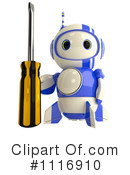 Royalty-Free (RF) Blueberry Robot Clipart Illustration #1116910