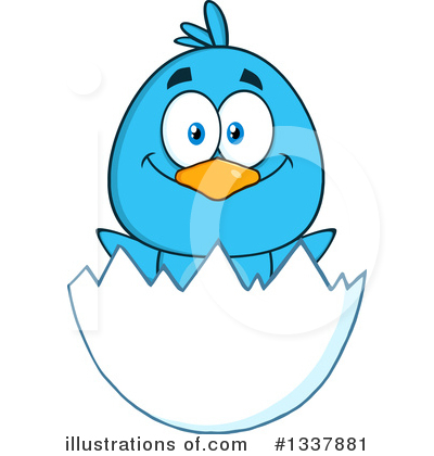 Blue Bird Clipart #1337881 by Hit Toon