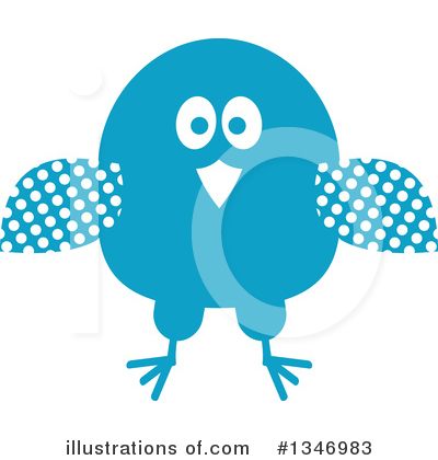 Blue Bird Clipart #1346983 by Vector Tradition SM