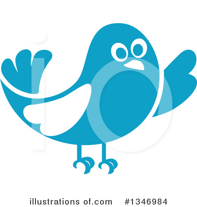 Blue Bird Clipart #1346984 by Vector Tradition SM