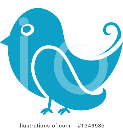 Blue Bird Clipart #1346985 by Vector Tradition SM