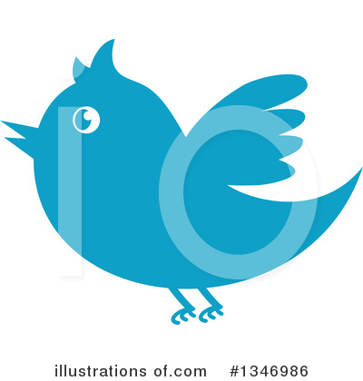 Blue Bird Clipart #1346986 by Vector Tradition SM