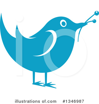 Blue Bird Clipart #1346987 by Vector Tradition SM