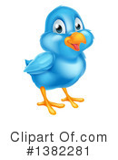 Royalty-Free (RF) Bluebird Clipart Illustration #1382281