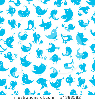 Blue Bird Clipart #1388582 by Vector Tradition SM