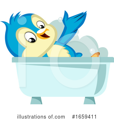 Bluebird Clipart #1659411 by Morphart Creations