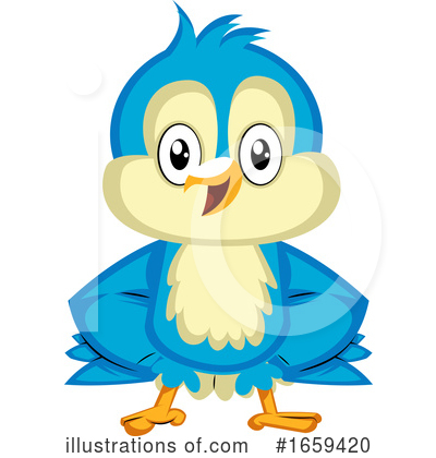 Bluebird Clipart #1659420 by Morphart Creations