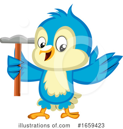 Bluebird Clipart #1659423 by Morphart Creations