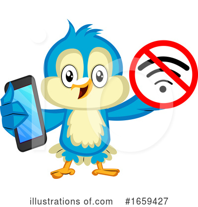 Royalty-Free (RF) Bluebird Clipart Illustration by Morphart Creations - Stock Sample #1659427