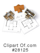 Royalty-Free (RF) Blueprints Clipart Illustration #28125