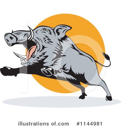 Boar Clipart #1144981 by patrimonio