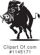 Royalty-Free (RF) boar Clipart Illustration #1145171