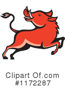 Royalty-Free (RF) boar Clipart Illustration #1172287
