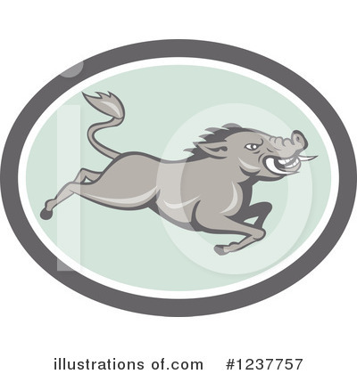 Boar Clipart #1237757 by patrimonio