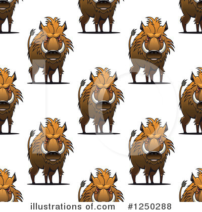 Boar Clipart #1250288 by Vector Tradition SM