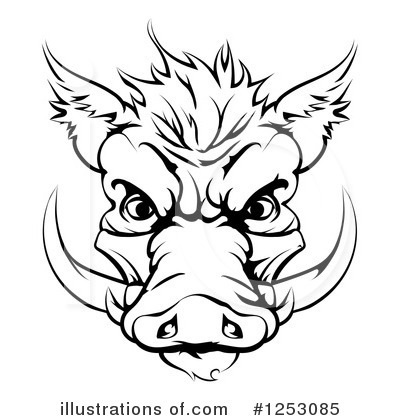 Boar Clipart #1253085 by AtStockIllustration