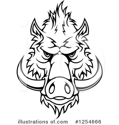 Boar Clipart #1254666 by Vector Tradition SM