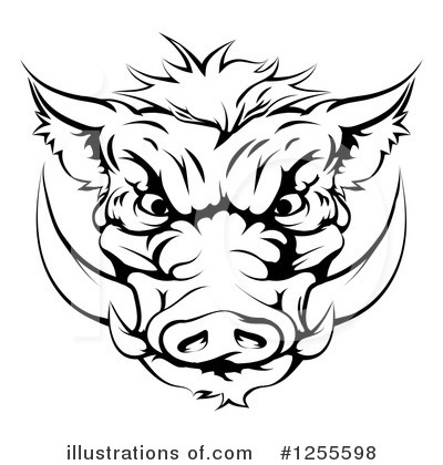 Boar Clipart #1255598 by AtStockIllustration