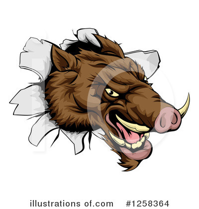 Royalty-Free (RF) Boar Clipart Illustration by AtStockIllustration - Stock Sample #1258364