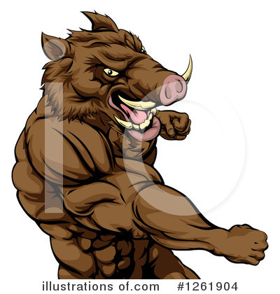 Boar Clipart #1261904 by AtStockIllustration