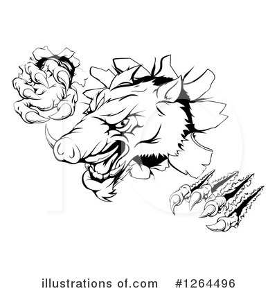 Boar Clipart #1264496 by AtStockIllustration