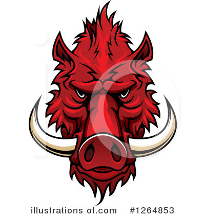 Boar Clipart #1264853 by Vector Tradition SM