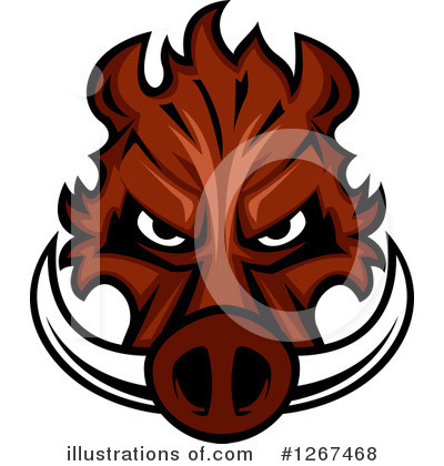 Royalty-Free (RF) Boar Clipart Illustration by Vector Tradition SM - Stock Sample #1267468