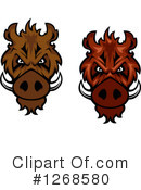 Boar Clipart #1268580 by Vector Tradition SM