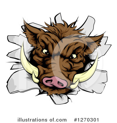 Boar Clipart #1270301 by AtStockIllustration