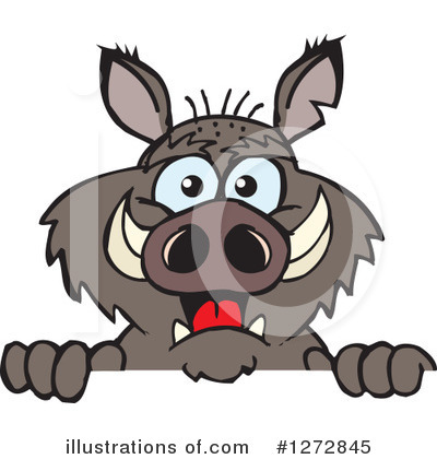 Boar Clipart #1272845 by Dennis Holmes Designs