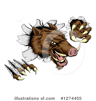 Boar Clipart #1274455 by AtStockIllustration
