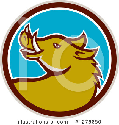 Boar Clipart #1276850 by patrimonio