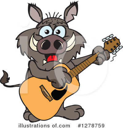 Boar Clipart #1278759 by Dennis Holmes Designs