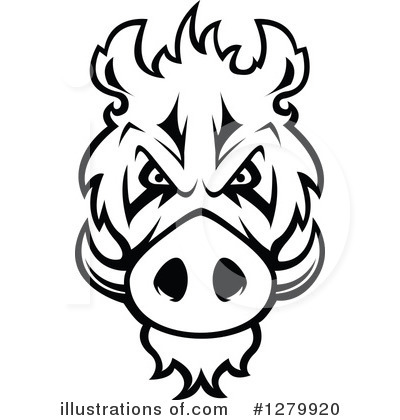 Boar Clipart #1279920 by Vector Tradition SM