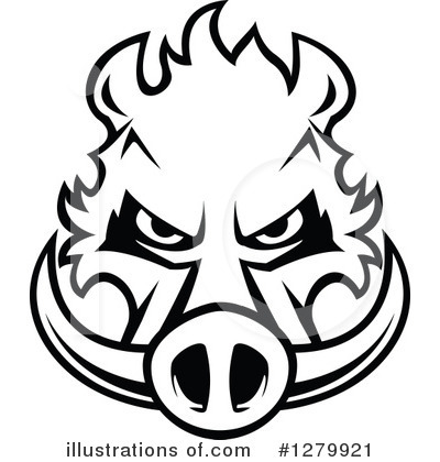 Boar Clipart #1279921 by Vector Tradition SM