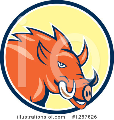 Boar Clipart #1287626 by patrimonio