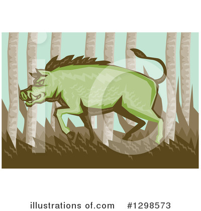 Boar Clipart #1298573 by patrimonio