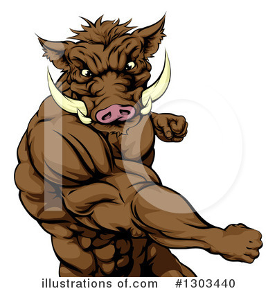 Boar Clipart #1303440 by AtStockIllustration