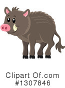 Boar Clipart #1307846 by visekart